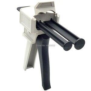 50ml Epoxy Resin AB Gun Labeling Adhesive Glue Gun Mixed 1:1 2:1 1:2 Bonding Extrusion 2-part Manual Dispense Caulking Guns DIY