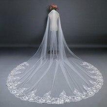 Cendrillon coton dentelle Applique 3*3 mètres dentelle appliqué bord doux Tulle mariage voile mariage mariée chapelle voile