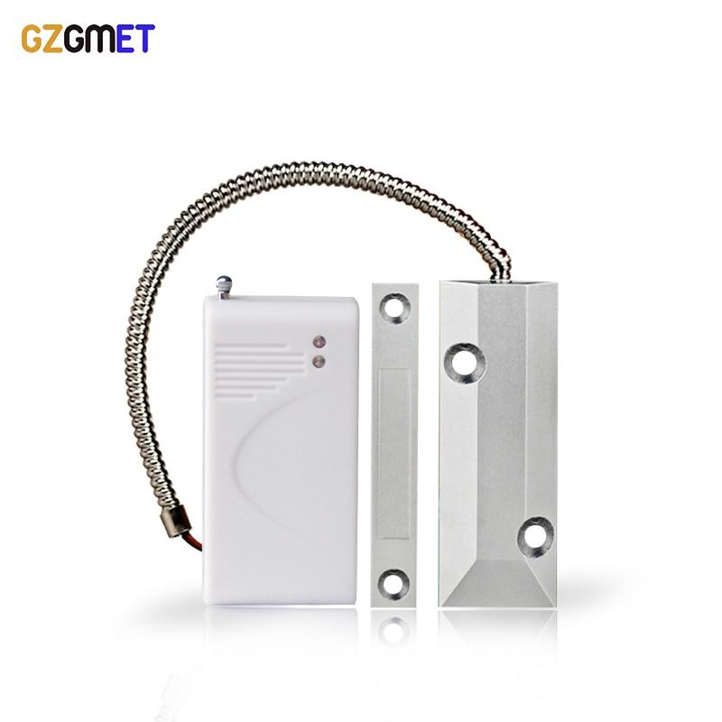 Gzgman detector de porta de metal, rolo de metal, detector, sensor magnético de 433mhz, alarme, portão, janela, alarme