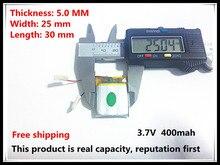 Kostenloser versand 3,7 V lithium-polymer-batterie 502530 052530 MP3 stereo Bluetooth wenig punkt lesen stift 400 MAH
