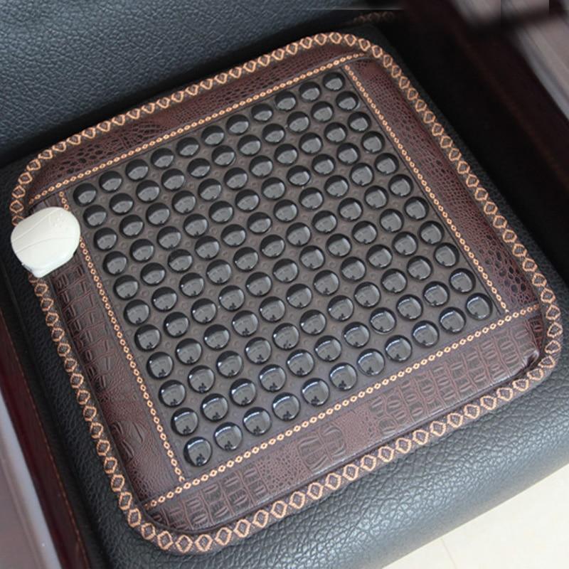 RELAX Health Seat Mattress Korea Quality Jade Tourmaline Heating Pad Thermal Mat Germanium Stone Chair Mat