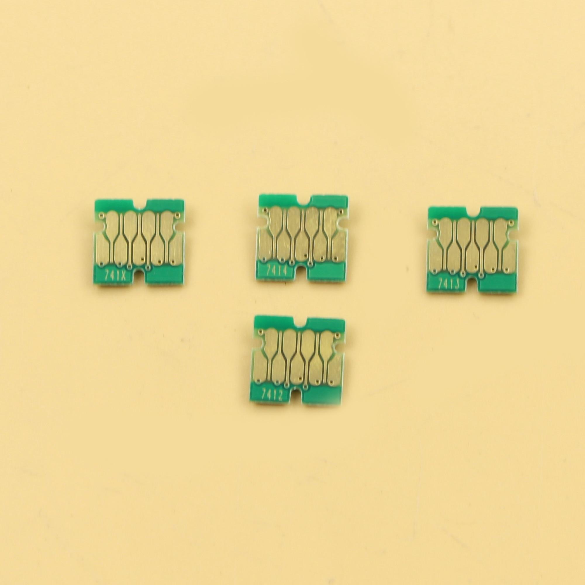 5 sets F6200 F9200 F7200 chips de cartuchos de tinta para Epson F9200 F6270 F7270 F9270 F9370 chips HDK T741X/T7412/T7413/T7414 1000ML