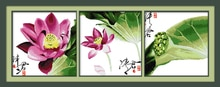 Fiore di loto punto croce kit Cinese immagine multi tessuto aida 14ct 11ct ricamo a mano FAI DA TE cucito a mano della borsa forniture