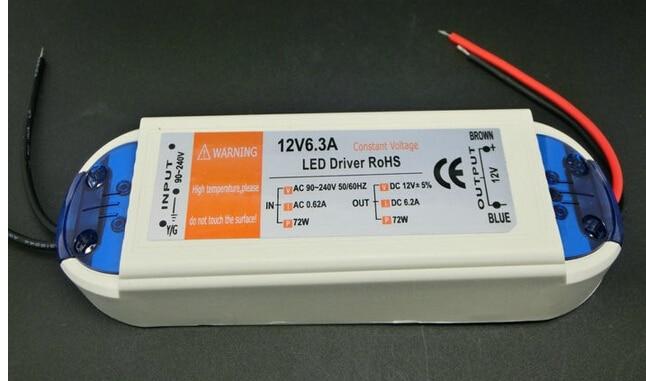 High Quality 12V 6.3A 72W 100V-240V Lighting for Transformers Safy Driver for LED Strip Power Supply