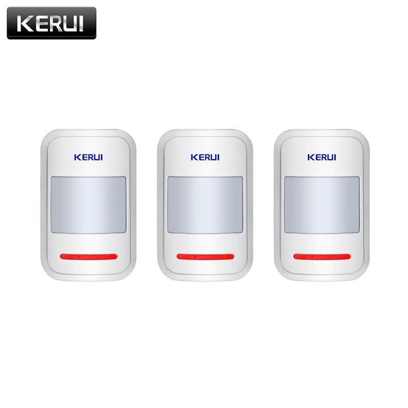 KERUI P819 3pcs/lots 433mhz Wireless PIR Motion Detector Sensor For GSM PSTN Home Security Burglar Alarm System Home Protection