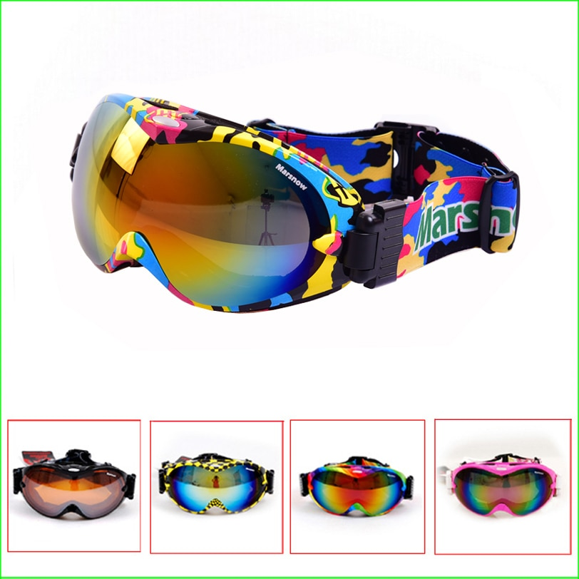 FG03 Skiing goggles double lens anti-fog professional ski glasses Unisex Multicolor UV-protection Snowing Goggles