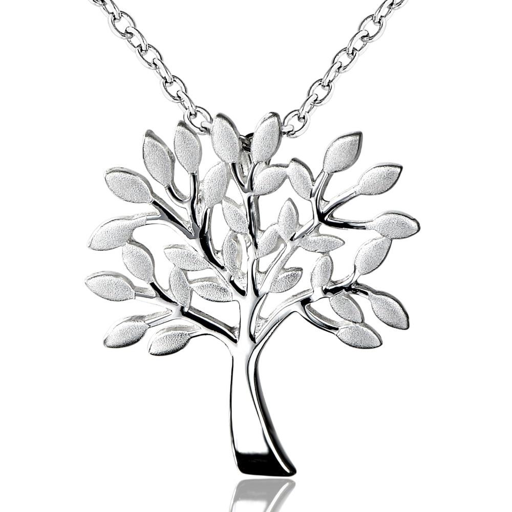 DORMITH Plata de Ley 925 auténtica colgante collar el árbol de la vida Collar para mujer joyería collar