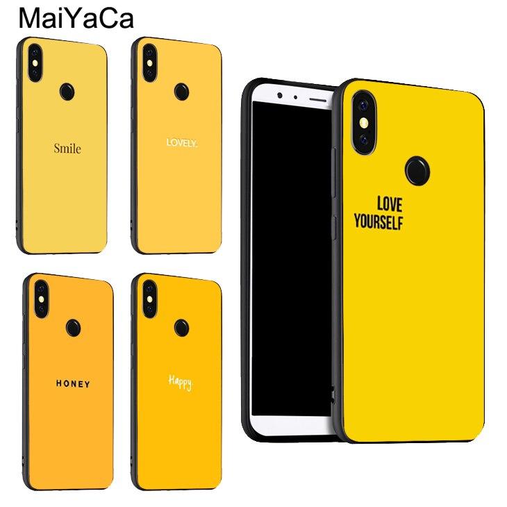 A ti mismo amarillo miel estética para Xiaomi Redmi Note 8 7 9 Pro K30 9S 8T 7A 8A Mi 9 A3 9T 10 Pro Max3 Mix3