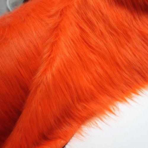 Costumes en fausse fourrure Shaggy solide Orange   En fourrure longue, tissu de Cosplay de 36