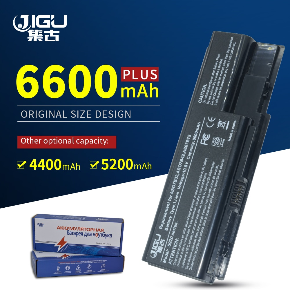 JIGU AS07B31 AS07B32 AS07B41 AS07B42 AS07B51 AS07B52 batería del ordenador portátil para Acer Aspire 7720G 7720Z 7730 7730G 7730Z 7730ZG