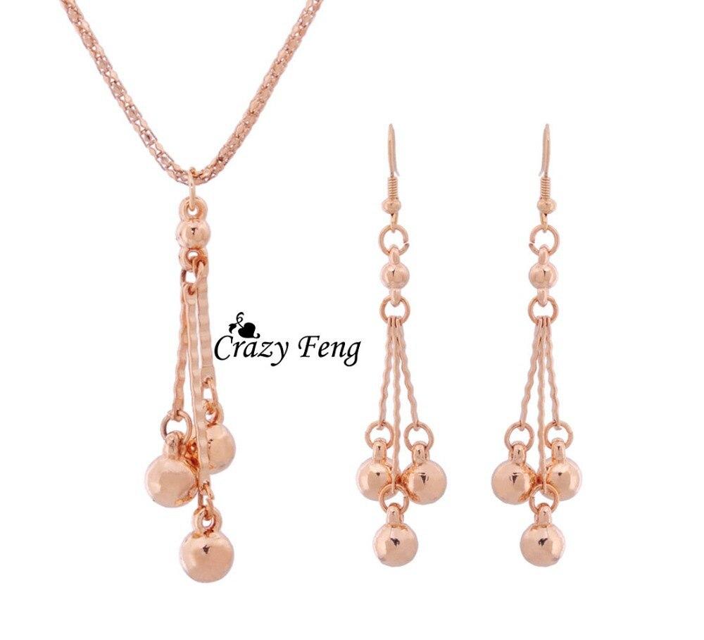 Набор украшений для женщин, серьги в винтажном стиле с подвеской и ожерелье в подарок, модные комплекты ювелирных изделий золотого цвета для вечеринок и свадебных торжеств