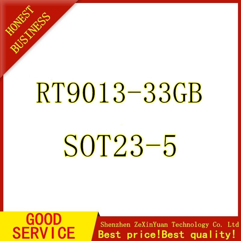 10 Uds RT9013-33GB RT9013-33 RT9013 regulador de voltaje lineal IC positivo fijo 1 salida 3,3 V 500m