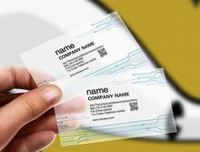 Printing 200pcs PVC ID Cards Transparent Plastic Round Business Card Design Calling Paper Cards Custom Print Waterproof 85*54mm