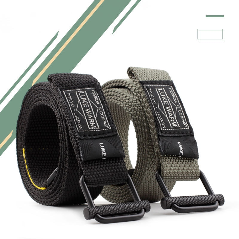 HUOBAO negro elástico equipo militar cinturón táctico hombre único anillo hebilla lona cinturones para hombres cintura