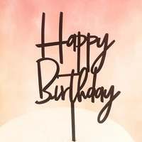 5pcs modern happy birthday acrylic cake topper
