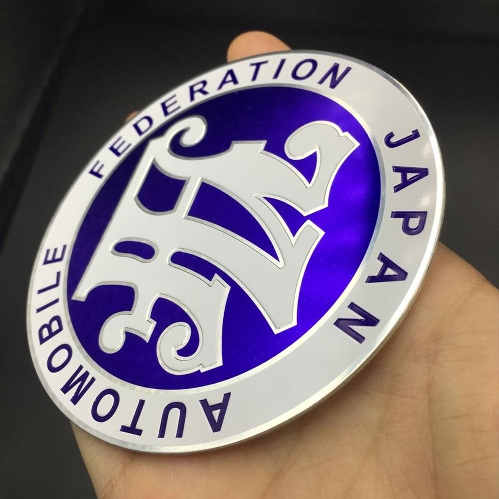 Free Shipping! Universal Blue Color black color JDM Car Front Grille JAF Emblem Badge Universal Fitment Car stickers