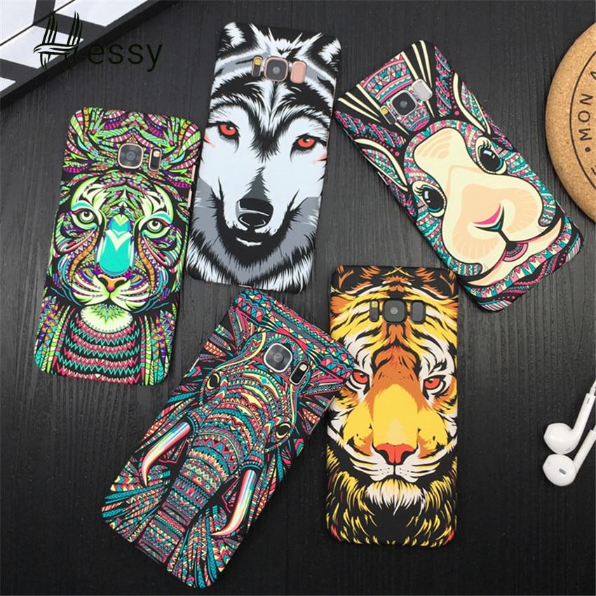 Fundas de teléfono Hessy luminosas de animales para Huawei P30 Mate20 Pro Honor V20 8X 10, elefante, lobo, tigre