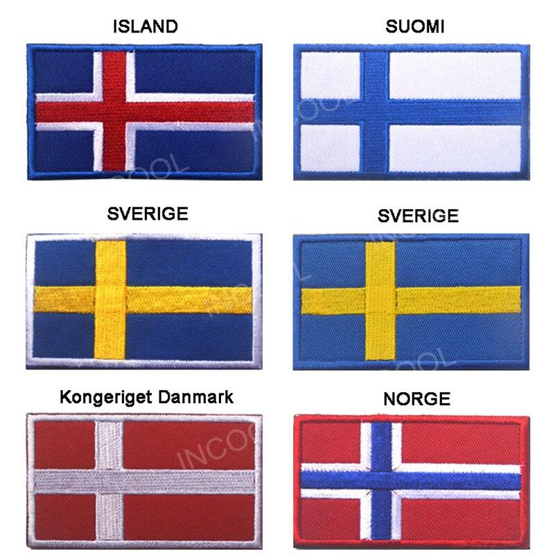 Suomi Finland Sverige Suomi, Suomi Finland Sverige, Швеция, Kongeriget, датский знак, Norge, норвежский флаг, вышивка, европейские флаги, 3D аппликации