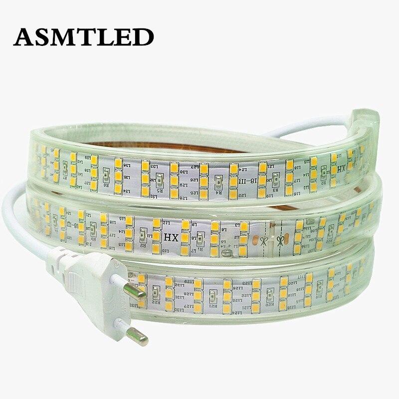 Nuevo LED Stirp Light AC 220 V 230 V 240 V SMD 2835 LED Flexible Tamp 276 leds/m cinta para decoración de la tienda cuadrada del jardín de Roma 1 m-50 m