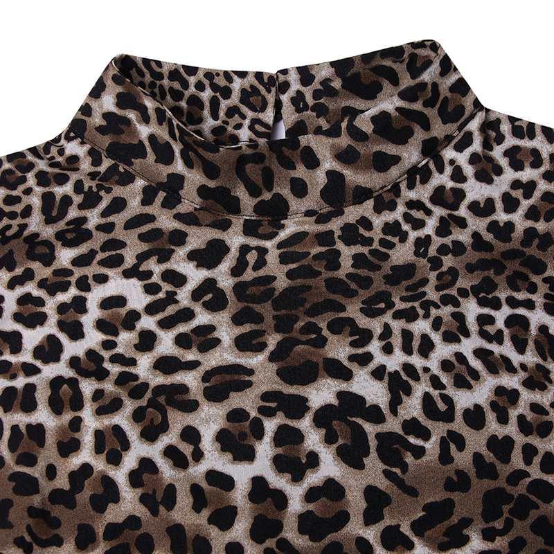 Vonda Summer Leopard Print Blouse 2021 Casual Sevy Women Blouse Long Sleeve Vintage Office Shirt Asymmetrical Long Top Plus Size Blouses Shirts Aliexpress