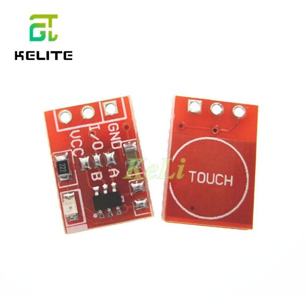 100 Uds TTP223 Sensor táctil módulo táctil tipo Jog botones táctiles capacitivos