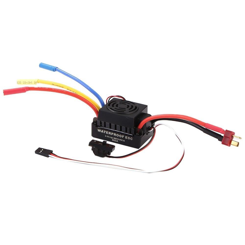60 a impermeable controlador de Motor sin escobillas tarjeta de programación ESC para coche 1/10 RC
