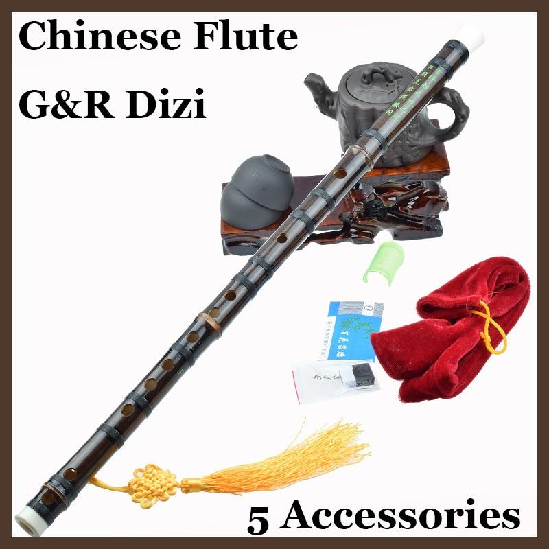Flauta de bambú chino Dizi, instrumento Musical profesional hecho a mano Bambu fluta Woodwinid, Instrumentos musicales étnicos C/D/E/F/G