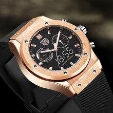 Man Watch 2020 TVG Top Brand Luxury Men Watches Waterproof Dual Time Analog Digital Quartz Watch Ros