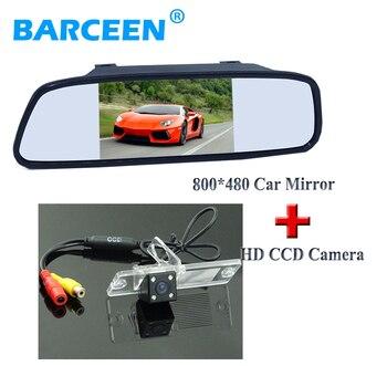 "5"" car mirror monitor bring high resolution+car reserve camera 4 led for Mitsubishi Pajero Zinger L200 V3 V93 V5 V6 V8 V97"
