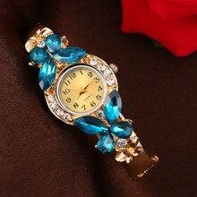 2019 Top marque femmes fleurs Bracelet montres femmes décontracté luxe cristal strass alliage robe montres cadeaux