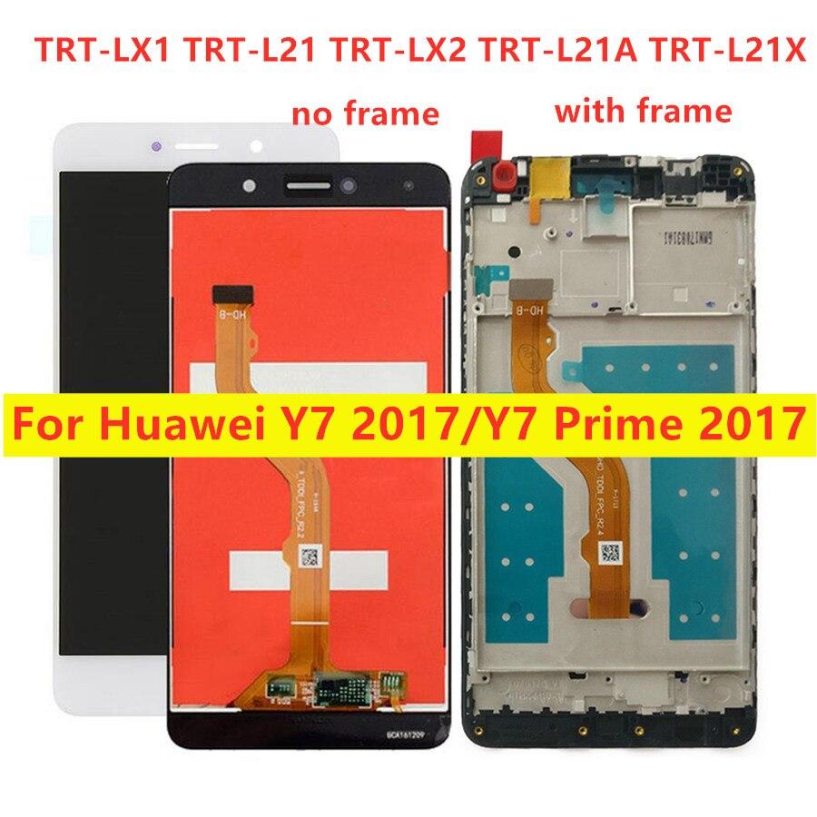 Para huawei y7 prime 2017 lcd digitador para huawei y7 2017 lcdtrt l21 l21a l21x lx2 lx1 lx3 display lcd montagem da tela de toque