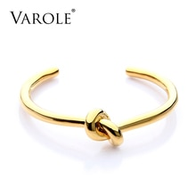 VAROLE élégant noeud cuivre Bracelets & Bracelets couleur or ouvert bracelet cadeau Pulseiras Feminina manchette Bracelets pour femme