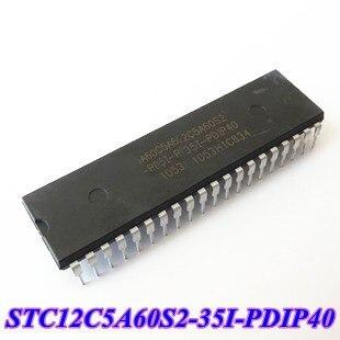 Livraison Gratuite! 10 pcs/lot STC12C5A60S2-35I-PDIP40 STC12C5A60S2-35I STC PDIP40