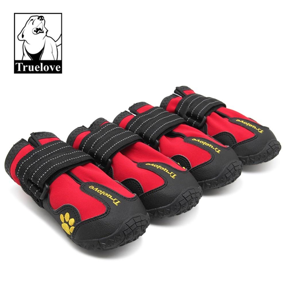 Zapatos de perro Truelove, Botas de lluvia antideslizantes impermeables, nieve cálida reflectante para pequeña mascota mediana grande, entrenamiento deportivo TLS3961