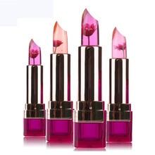 Marque chrysanthème rouge à lèvres gelée fruits baume à lèvres bâton changement de température hydratant lumineux maquillage brillant à lèvres Double soin lèvres