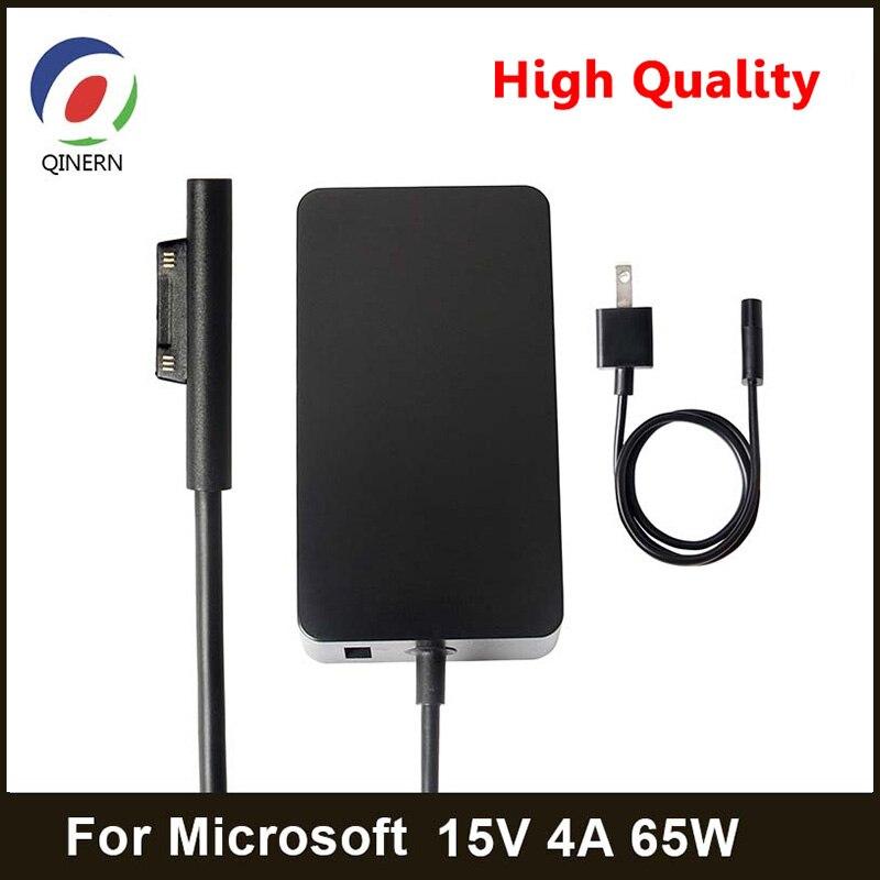 Adaptador de cargador QINERN de 15V 4A 65W 6 para Microsoft Surface, portátil, Book Power para Pro3/Pro4