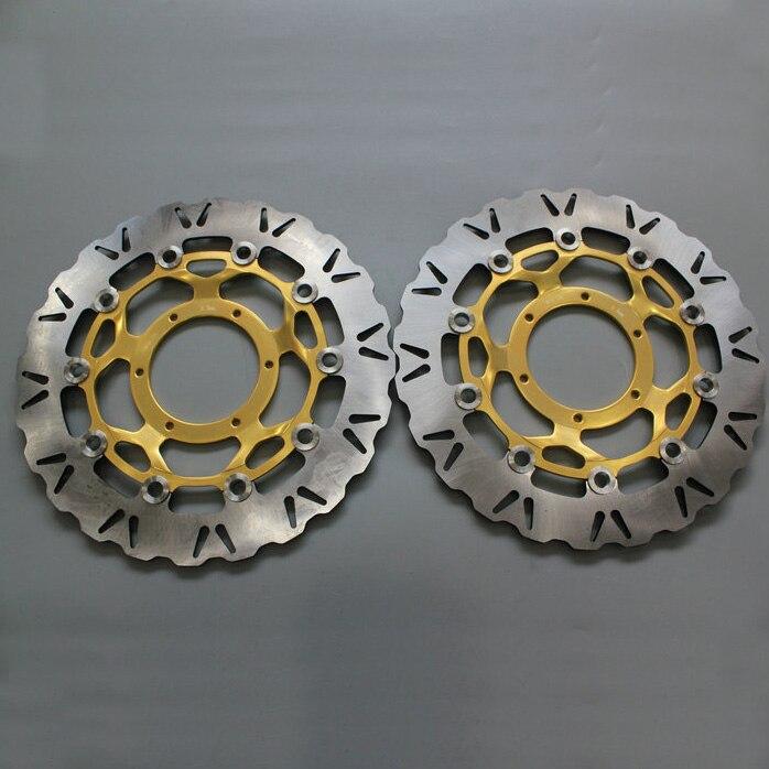 Rotor de frein à disque avant pour moto   2 pièces, Rotor de frein à disque avant pour HONDA CBR600 2007 2008 2009 2010 2011 - 2013