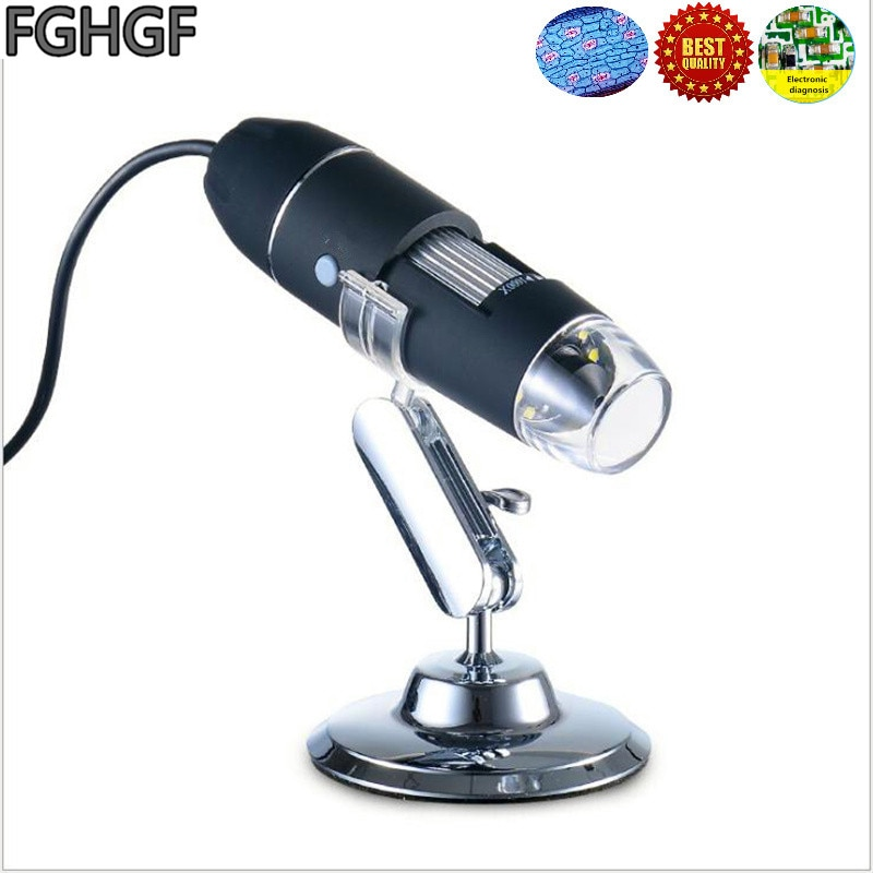 FGHGF CK3 1-500X Lupa Electrónica USB microscopio REPARACIÓN DE PCB de diagnóstico lupa de plástico de goma vídeo lupa de mano
