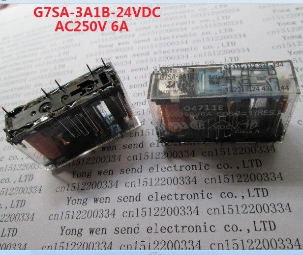 حار جديد تتابع G7SA-3A1B-24VDC G7SA-3A1B-DC24V G7SA-3A1B G7SA3A1B-24VDC G7SA3A1B-DC24V 24VDC DC24V 24V AC250V 6A 2 قطعة/الوحدة