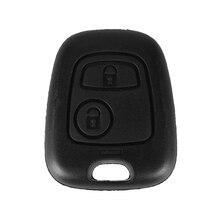 Keyyou 2 Knop Afstandsbediening Sleutel Autosleutel Case Shell Cover Voor Citroen C2 C3 C4 C5 C6 Xsara Picasso Voor peugeot 307 107 207 407 Geen Logo