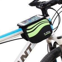 B SOUL велосипедный передний каркас сумка, MTB велосипед сенсорный экран Чехол, Велоспорт Топ трубные Мешки Для 5,7 дюймов, езда на велосипеде мобильный phoneTouch