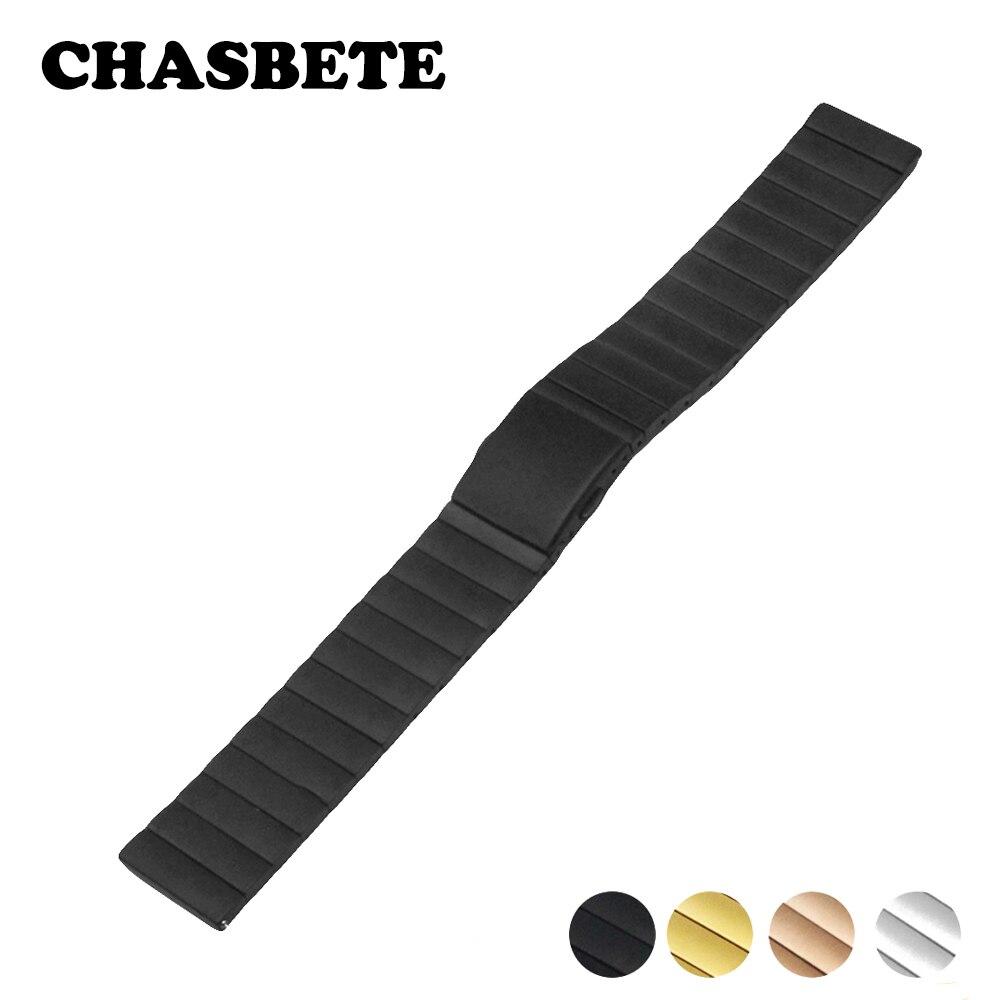 22mm correa de reloj de acero inoxidable para Breitling correa de reloj de liberación rápida Metal Lazo de cinta Correa pulsera de muñeca negro plata + herramienta