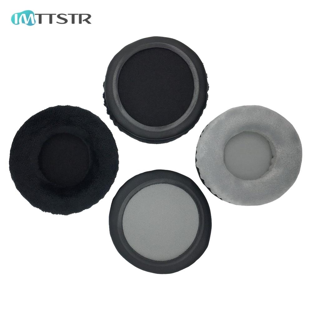 IMTTSTR 1 par de almohadillas de cuero de terciopelo para audífonos Pioneer HDJ1000 HDJ1500 HDJ2000 DJ reemplazo de orejeras