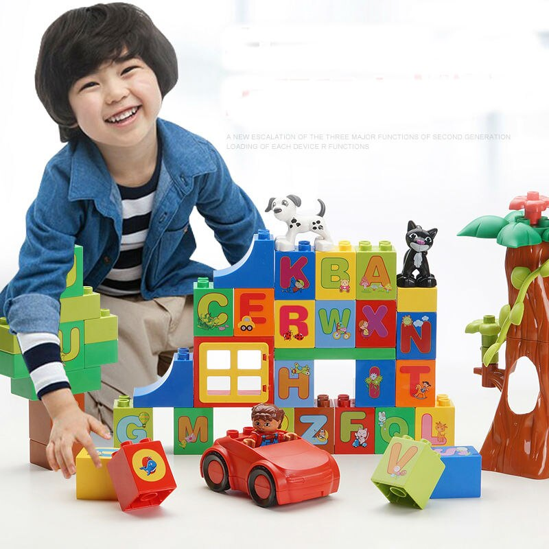 54 pcs Carta Paraíso Modelo Grande Partículas Building Block Figuras Bricks Brinquedo para Crianças Coletar