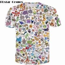 PLstar Cosmos 2019 été nouvelle mode T-shirts Pokemon Pet Paparazzi impression 3d hommes femmes t-shirt Anime Pikachu/Totoro T-shirts