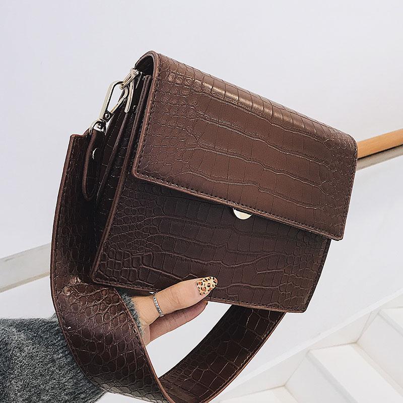 Women's Designer Luxury Handbag 2021 Fashion New High quality PU Leather Women Handbags Crocodile pattern Shoulder Messenger Bag