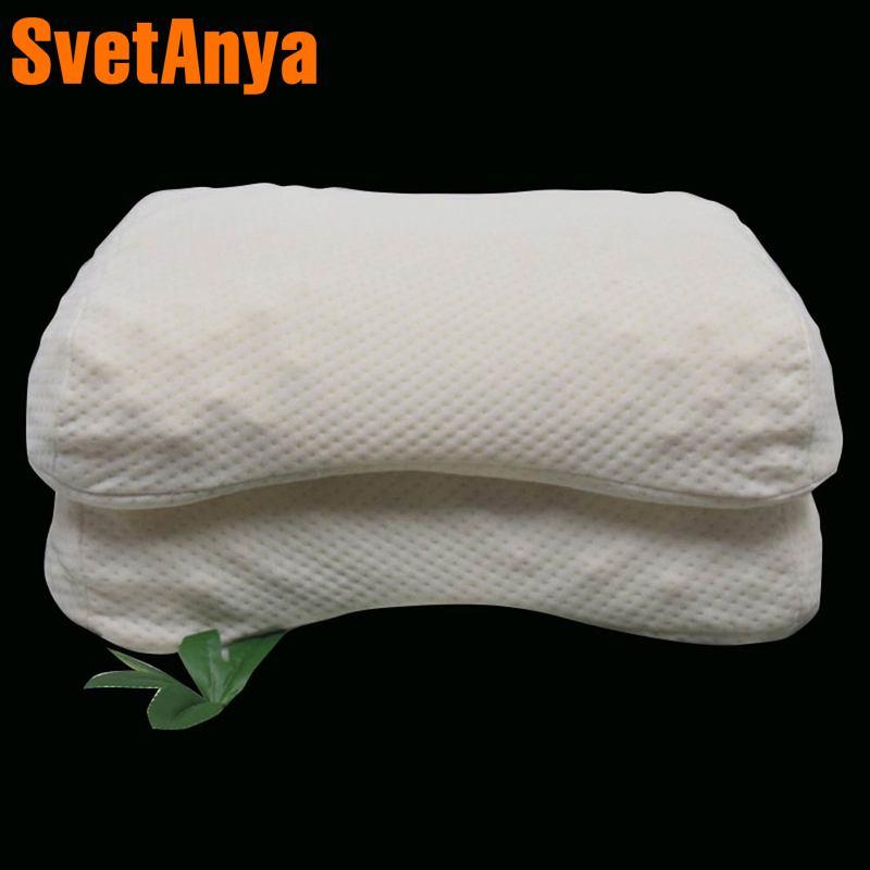 Svetanya Peanut shape Latex Pillow Slow Rebound white 58x35x10cm