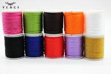 10 pièces/paquet bricolage 1mm Satin Polyester cordons brins de corde corde fil Bracelet collier corde bijoux résultats & Compone