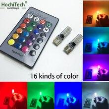 HochiTech T10 LED RGB 194 W5W CANBUS voiture dégagement lumière demballage pour Lada Vaz Kalina Priora Niva Samara 2110 Largus voiture-style
