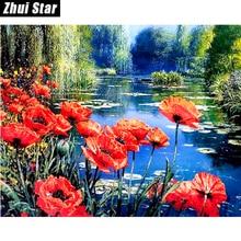 "Hot 5D DIY Diamond Painting ""ocean flowers"" Embroidery Full Square Diamond Cross Stitch Rhinestone Mosaic Painting Decor Gift"